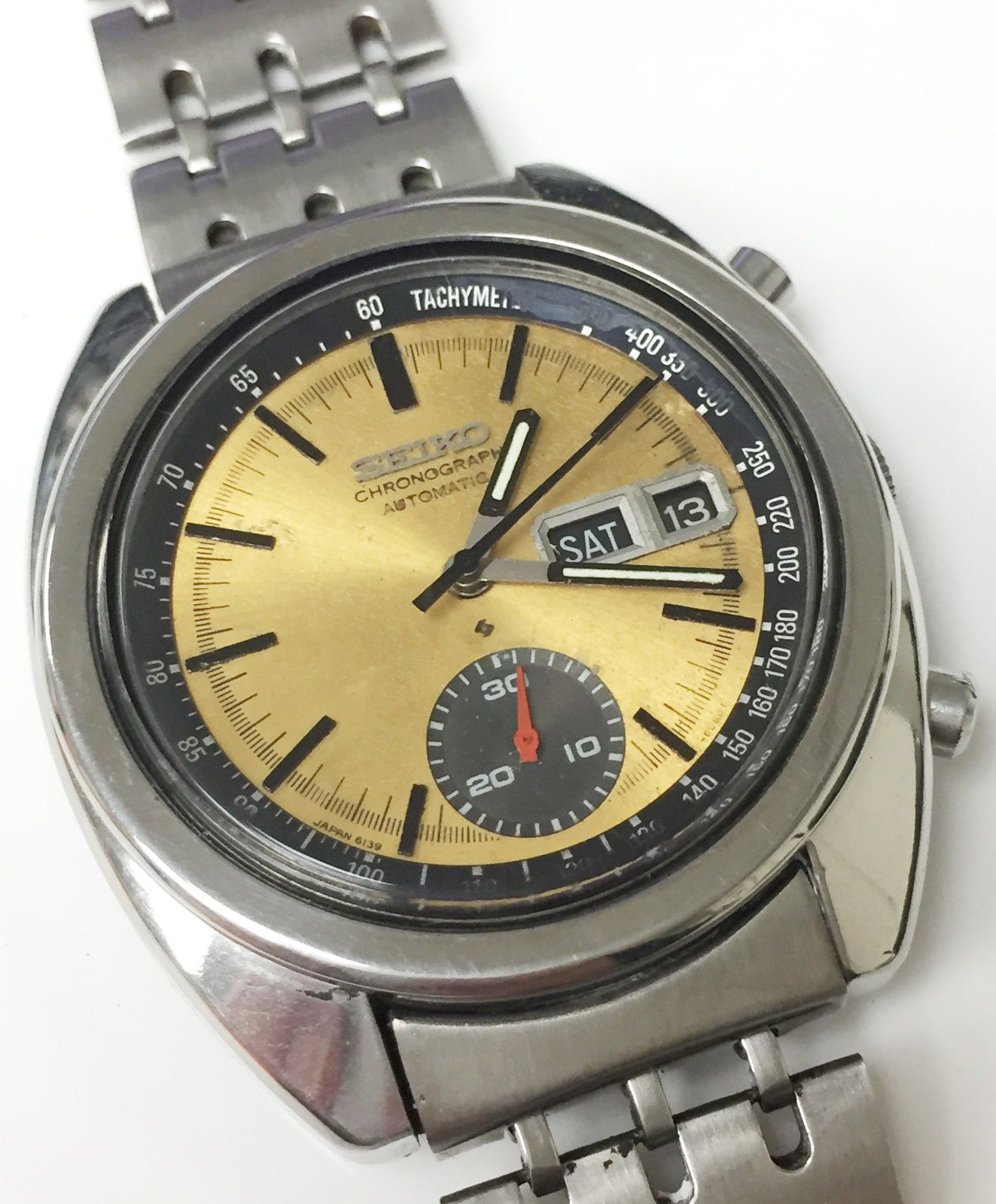 e4a541d07a9 Seiko Speed Timer 6139 8002 Automatic Chronograph Watch Original Genuine  Rare