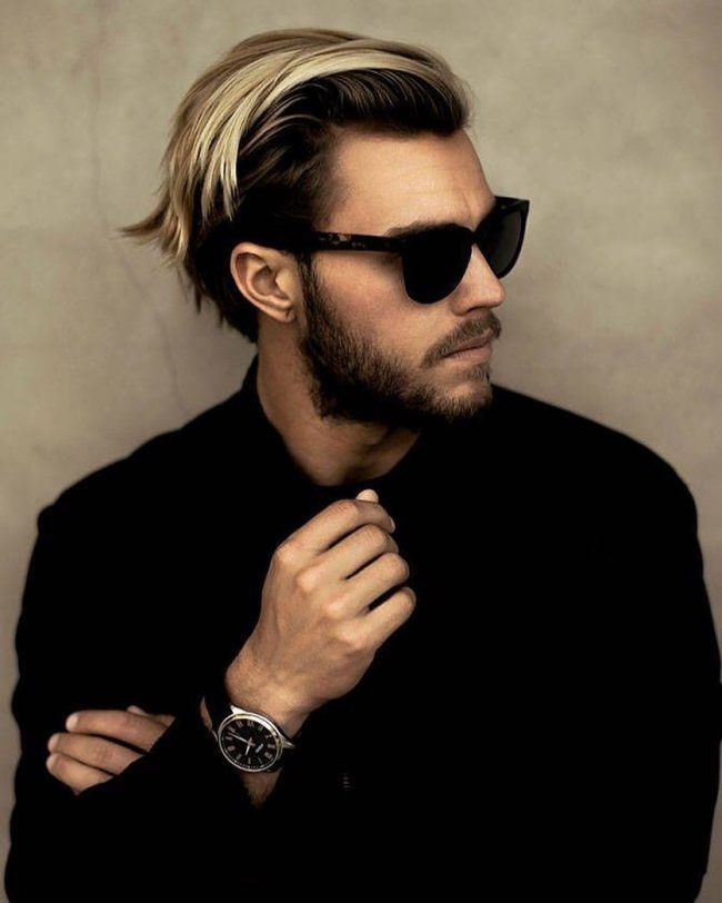 Blonde Brush Back Haircuts For Men Mens Hairstyles Straight Hairstyles