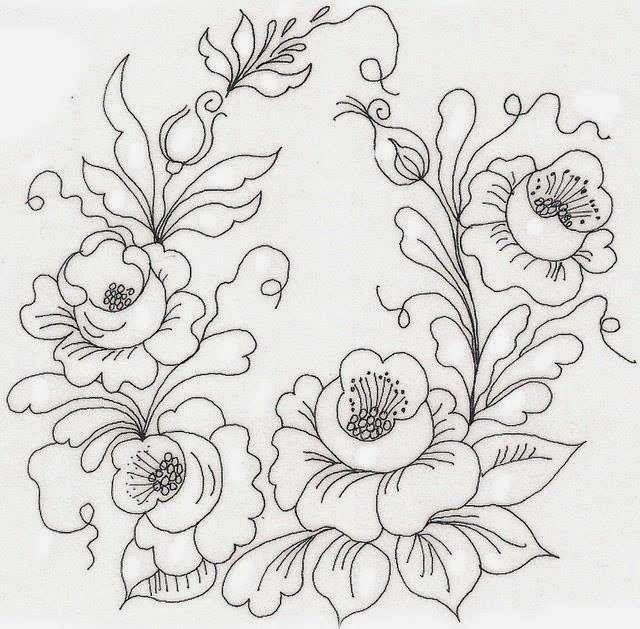 Pintura em tecido ,Pintura em tela, Riscos e desenhos para pintar e ...