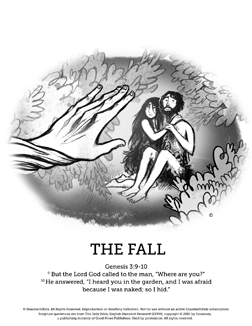 the fall of man coloring pages - the fall of man genesis 3 bible coloring pages kids love