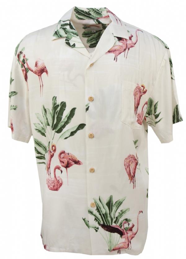 Flamingo Mens Hawaiian Aloha Shirt In Beige Hawaiian Shirts Prf R10 Flamingo19 Beige Mens Hawaiian Shirts Aloha Shirt Hawaiian Shirt