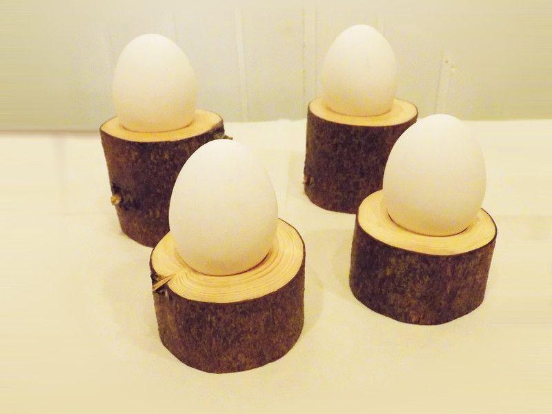 Eierbecher - Versandkostenfrei: 4er Set Eierbecher / Holzdeko - ein Designerstück von Woellfchen bei DaWanda