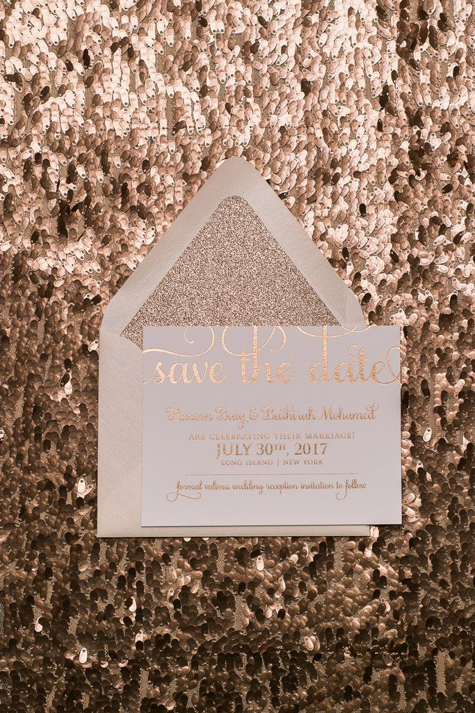 Adele Glitter Save The Date Affordable Letterpress Wedding Invitations With Envelope Liners Blush