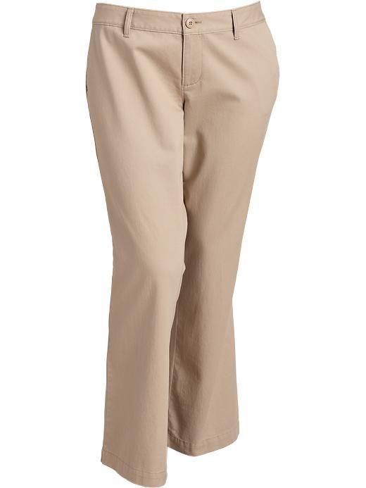 Women plus petite twill slacks