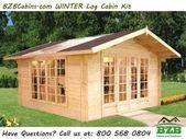 BZBCabins.com Winter Blockhaus-Kit Neues Modell 123 x 123 150 m² # outdoorwoo # fas ...#blockhauskit #bzbcabinscom #fas #m² #modell #neues #outdoorwoo #winter