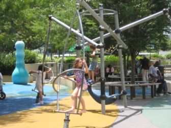 Destination Playground Chelsea Waterside Park In New York City Mommy Poppins Things To Do With Kids Park In New York New York City Playground