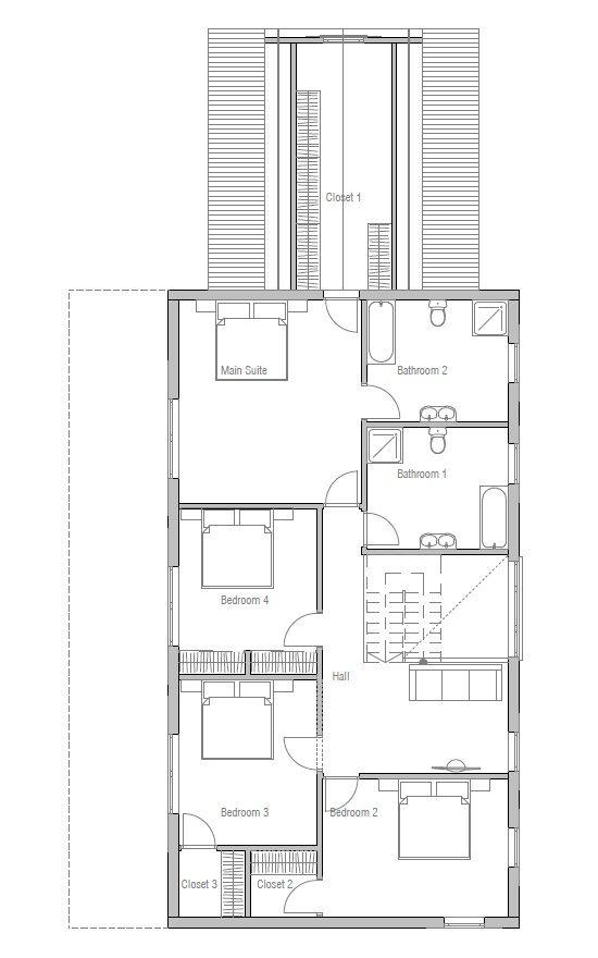Hauspläne modern  house design colonial-style-house-ch131 21 | Hauspläne | Pinterest ...