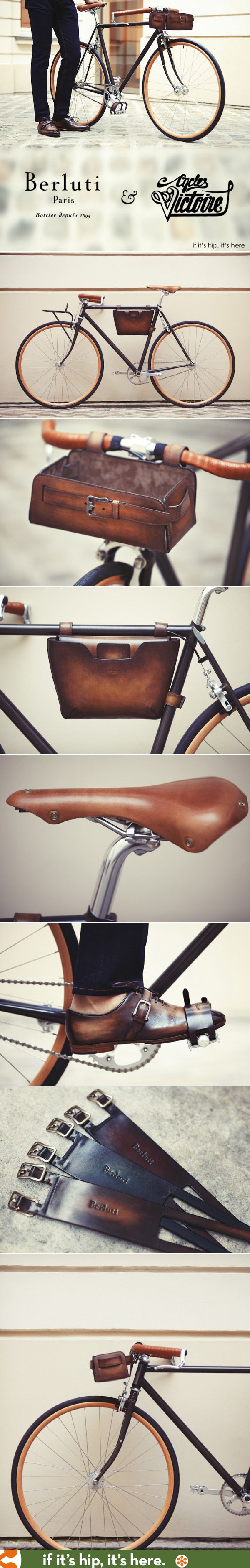 Berluti and Victoire Cycles team up to create a stunning men's bike with leather accessories.