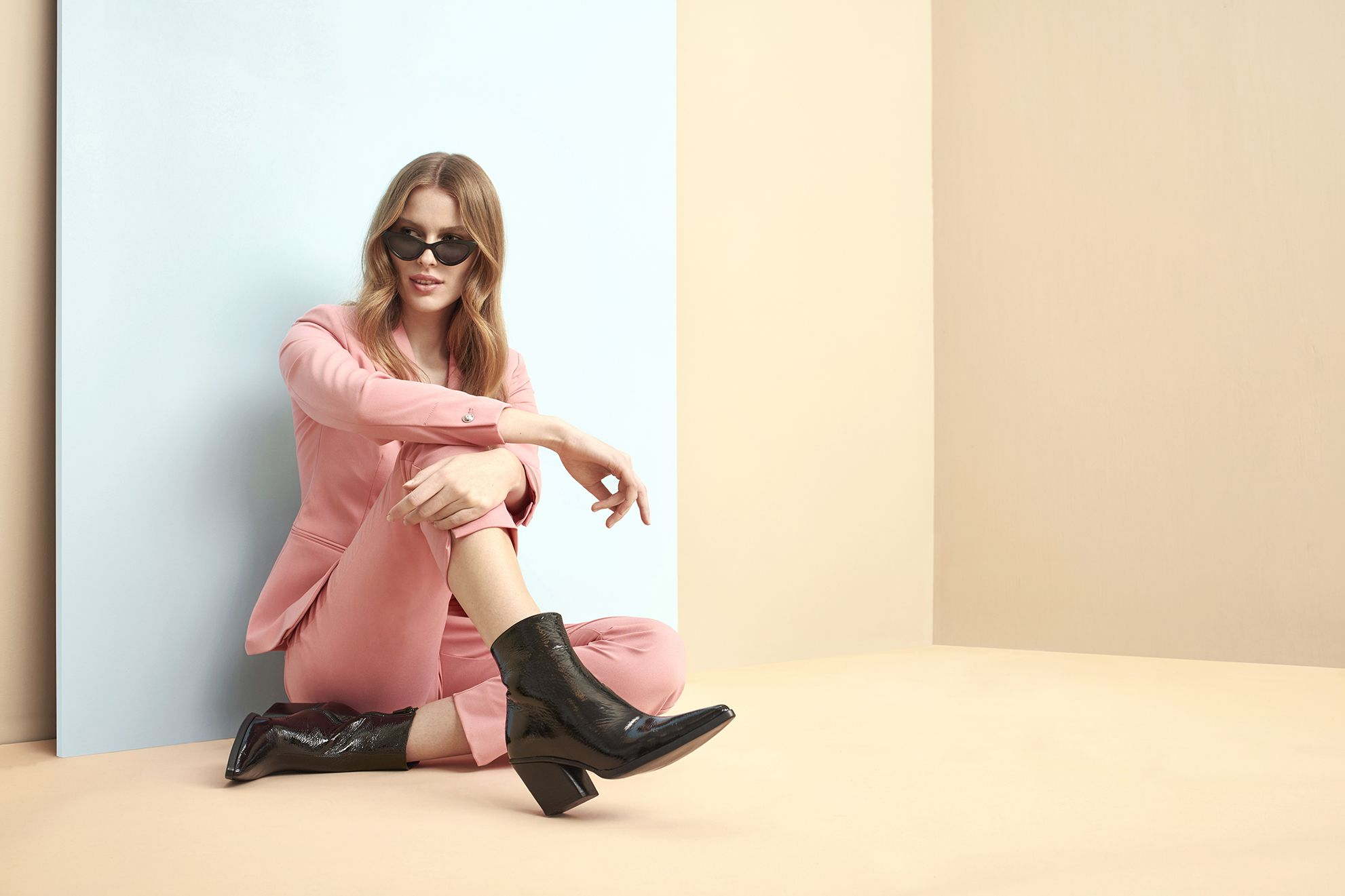 Follow the western trend in these patent boots from K.Cobler