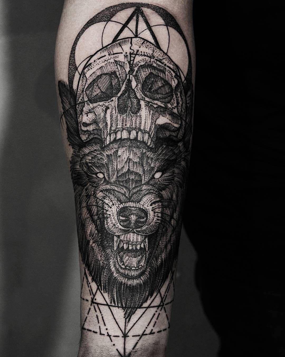 0ab906302 skull and bear tattoo from tomas_vandlicektattoo | Tattoos | Bear ...