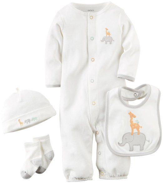 Shiningbaby Cartoon Elephant Baby Boy Outfit Newborn Tracksuit Hoodie Sweatshirt Top and Pant 2 PCS Clothes Set