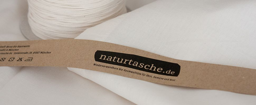 very light bags of organic cotton for your eco-shopping of small things like onions, apples etc, made in germany naturtasche.de
