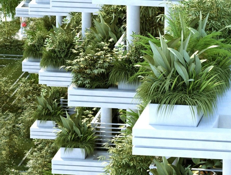 India 39 s magic breeze villa will be a giant park in the sky for Terrace vegetable garden india