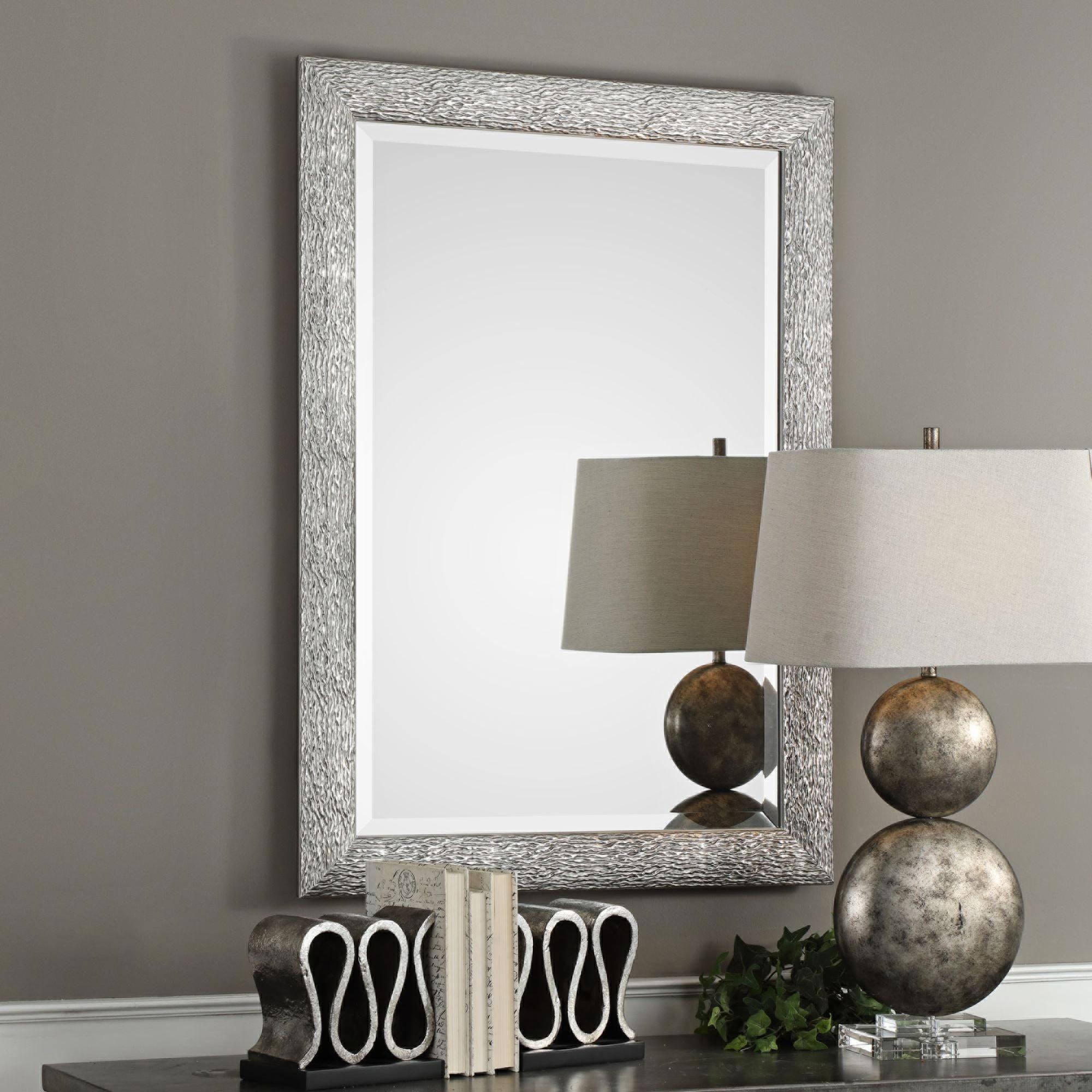 Mossley Metallic Silver 30 Inch X 42 Inch Framed Wall Mirror