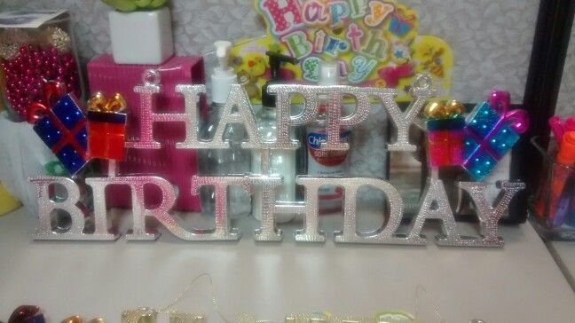 Daiso Birthday Decoration Birthday Decorations Cubicle Decor