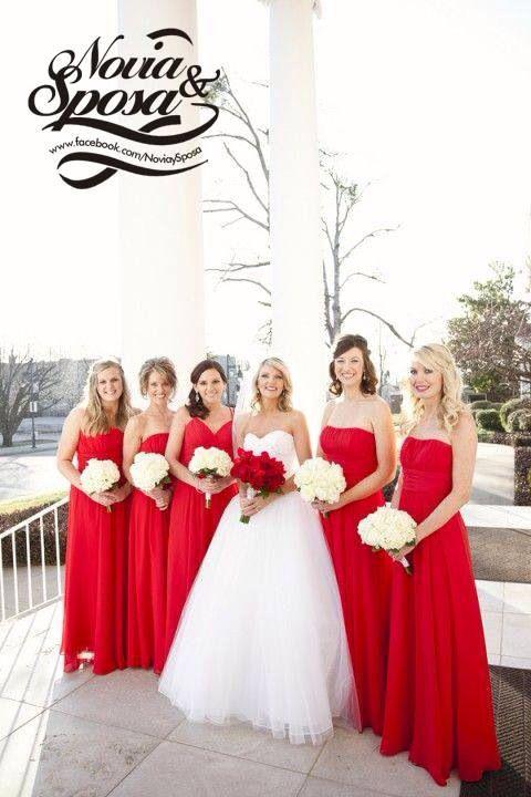 Vestido de boda rojo blanco