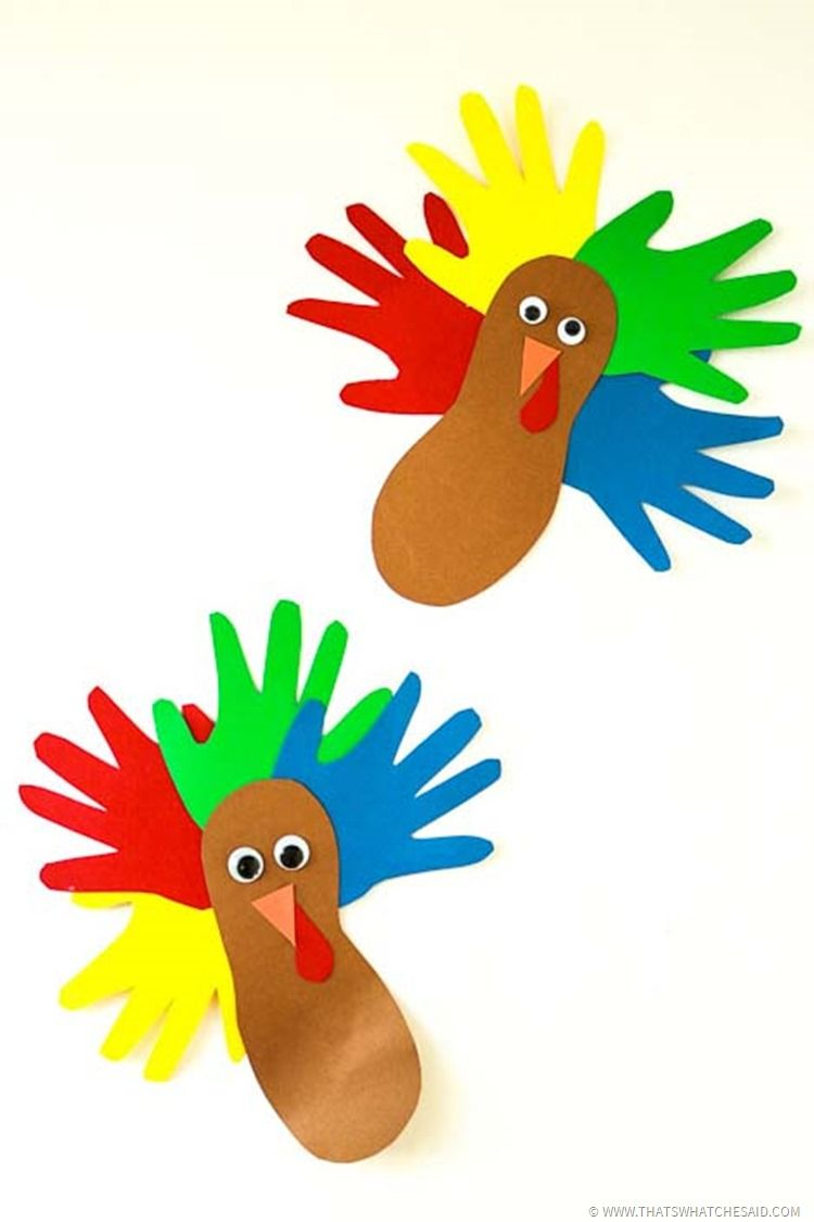 Hand & Foot Print Turkey Craft