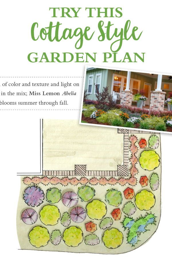 Forget the Rules! Try a cottage garden front and center ...