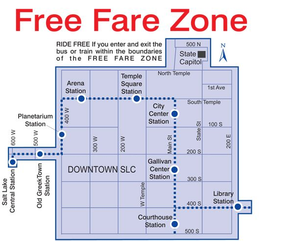 Parking In Downtown Salt Lake City Free Fare Zone Salt