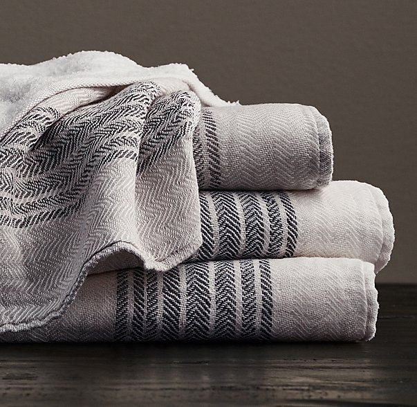 Cheap Guest Towels: Japanese Herringbone Stripe Cotton Guest Towel