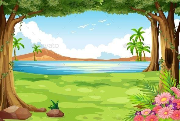 Scenery Scenery Background Clipart Cartoon Background 845,064 tree vectors on gograph. scenery background clipart cartoon