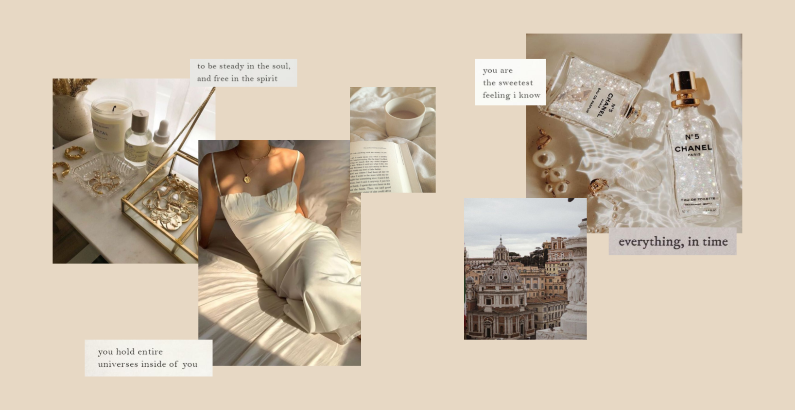 beige aesthetic computer background collage aesthetic