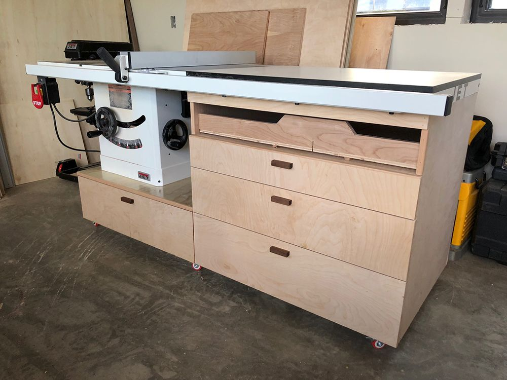 Jet Proshop Ii Table Saw With Cast Wings 230v 52 Rip Table Saw Woodworking In An Apartment Chest Woodworking Plans