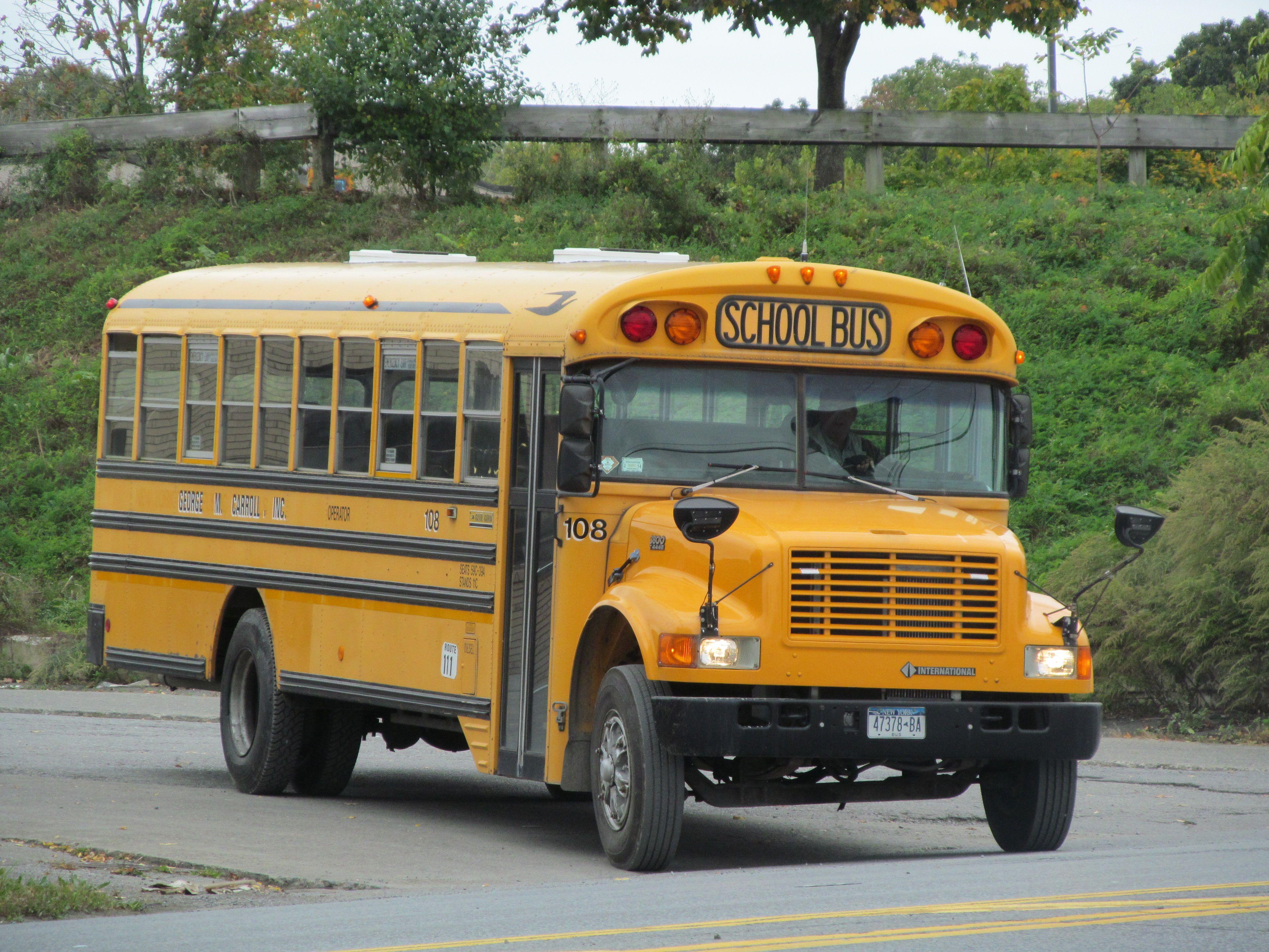 George M Carroll 108 School Bus New Bus Service Bus
