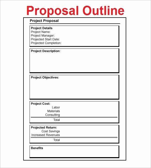 20 Project Proposal Outline Sample In 2020 Business Throughout Simple Business Pr Business Proposal Template Project Proposal Template Proposal Templates