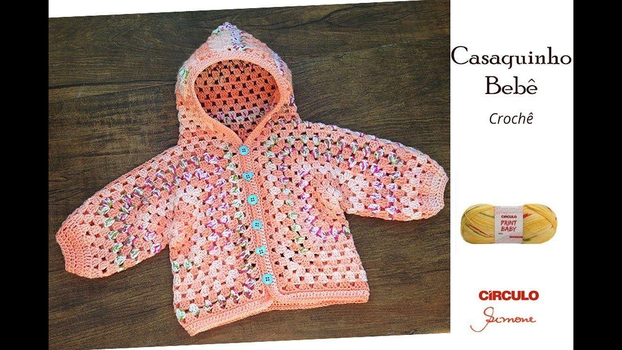 Casaquinho De Croche Print Baby Passo A Passo Simone Eleoterio