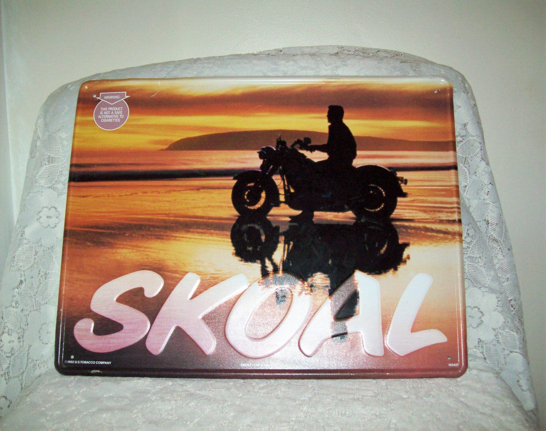 85 Off Sale Vintage Metal Sign Skoal Smokeless Tobacco Etsy Vintage Metal Signs Vintage Metal Metal Signs