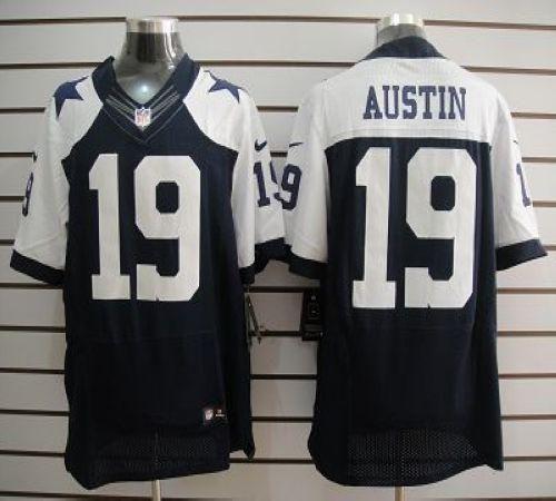 san francisco 4e158 fe156 Nike Cowboys #19 Miles Austin Blue Thanksgiving Throwback ...
