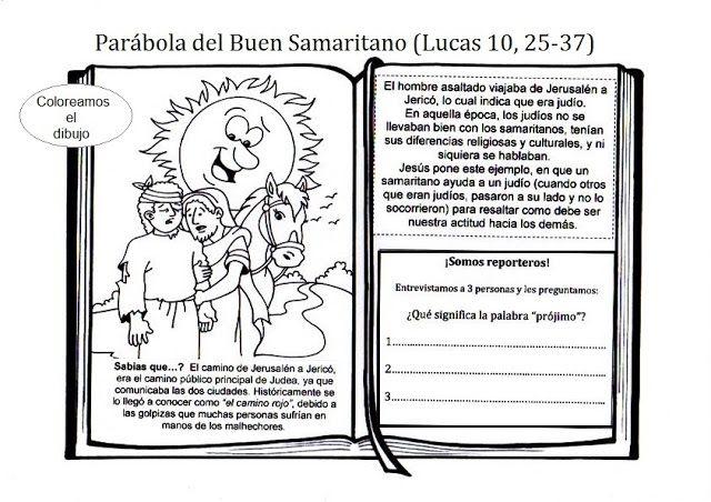 Materiales para trabajar las parábolas. El buen samaritano | 4 de ...