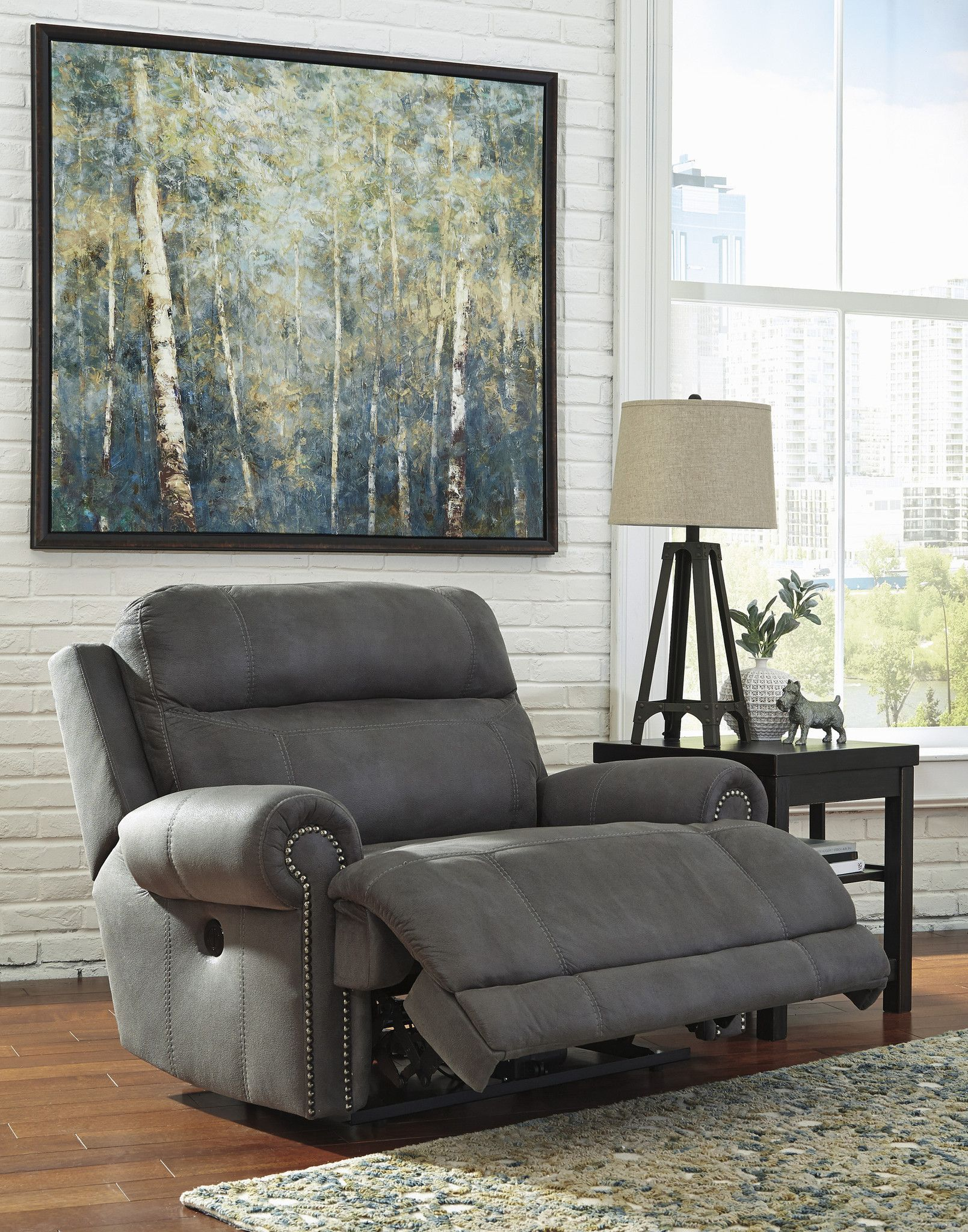 Austere Wide Power Recliner By Ashley Furniture At Kensington