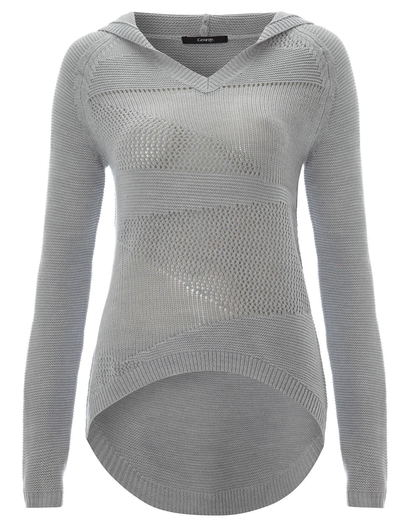 Black t shirt asda - Hooded Knit Jumper Women George At Asda