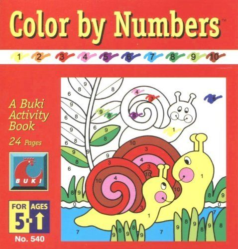 Color by Numbers: A Buki Activity Book by Poof-Slinky. $2.49. Made in Israel. A Buki activity book. Ages 5+. Color by Numbers Buki Activity Book Made in Israel