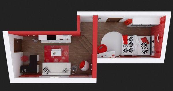 Chambre ŕ Coucher Rouge Et Noir En 2020 Decor Chambre A Coucher Chambre A Coucher Noire Chambre A Coucher
