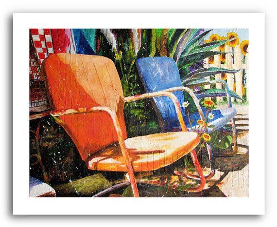 Metal Lawn Chairs Art Quot Relax Quot Prints Signed And Numbered