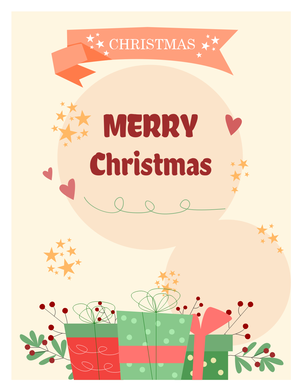 Diy Christmas Card Ideas Edrawmax In 2020 Christmas Greeting Cards Christmas Cards Christmas Card Template