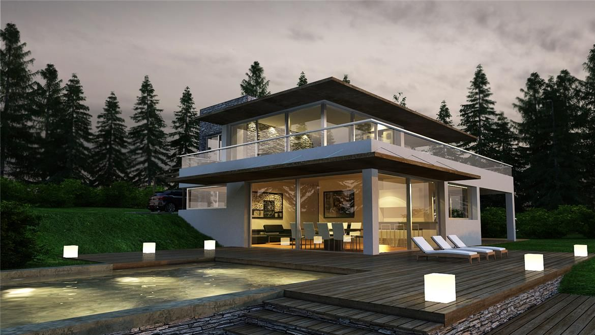 Florencia 300m2 ytong beach house prints pinterest house plans mountain homes y architecture - Constructoras tenerife ...