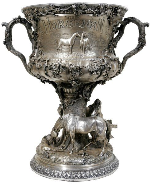 Gorham Sterling Silver Trophy The Horseman Cup With