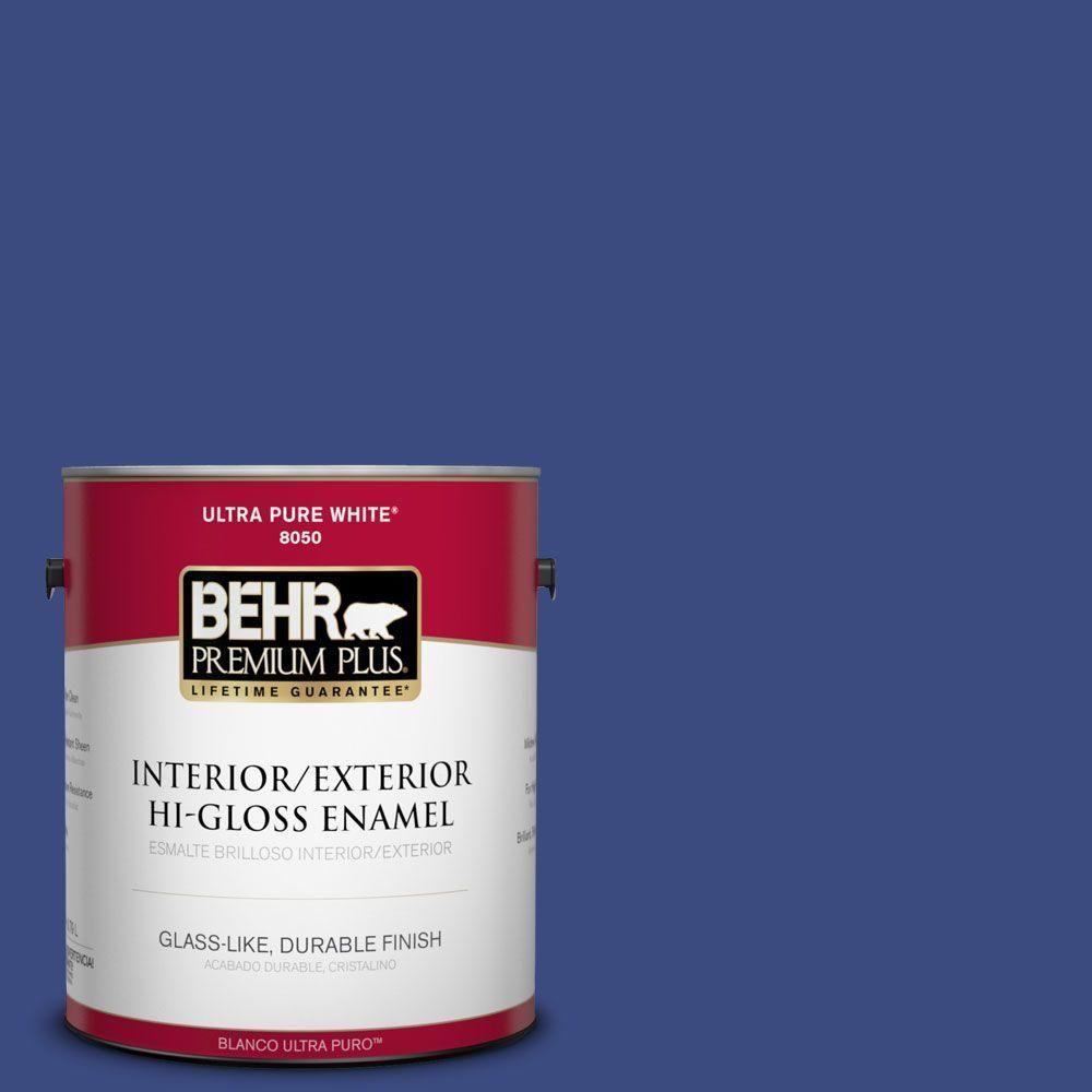 BEHR Premium Plus 1-gal. #P530-7 Tanzanite Hi-Gloss Enamel Interior/Exterior Paint