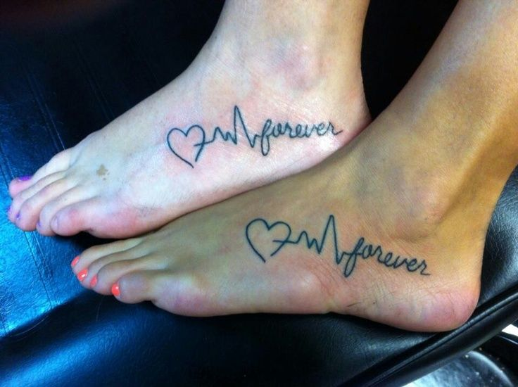 Image result for Best Friend Heart Beat Tattoos | cubs tattoos ...