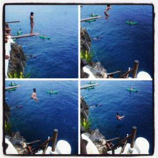 Cliff jumping @ Ariel's Point - Boracay