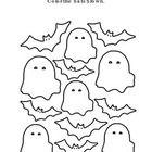 Halloween Kindergarten Math Classifying Bats Brown Ghosts