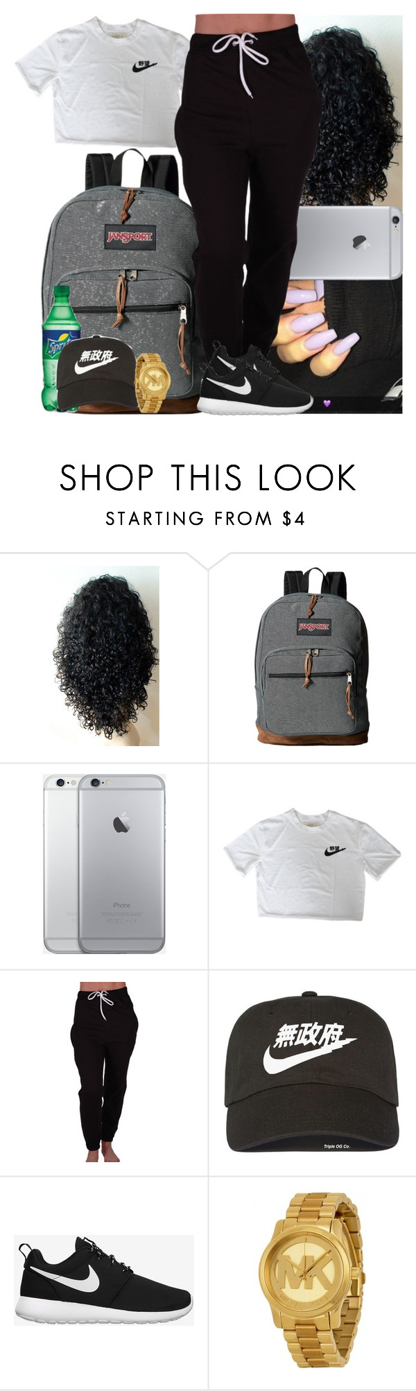 """""""◼️◻️◼️◻️"""" by msixo ❤ liked on Polyvore featuring JanSport, NIKE and Michael Kors"""