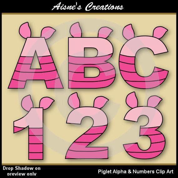 Eeyore Alphabet Letters /& Numbers Clip Art Graphics Winnie The Pooh