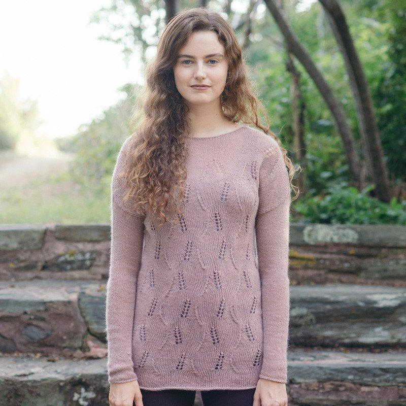 delta pullover knitting pattern - Quince and Co