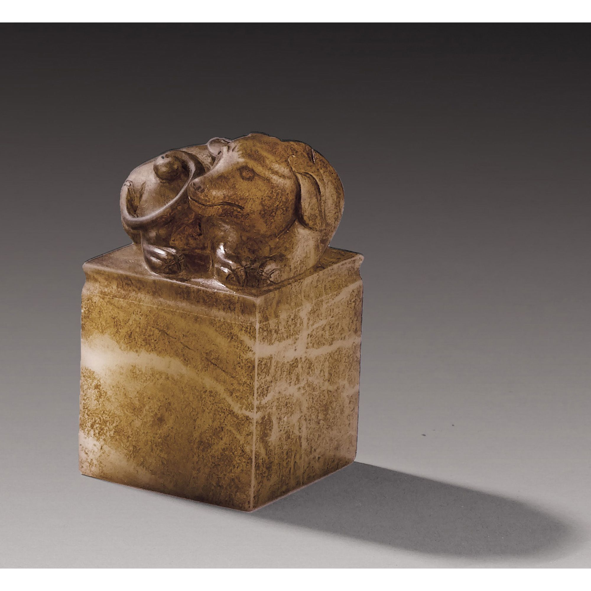 """A CARVED JADE SEAL OF """"CHEN SHISHUI"""", CHINA, QING DYNASTY"""