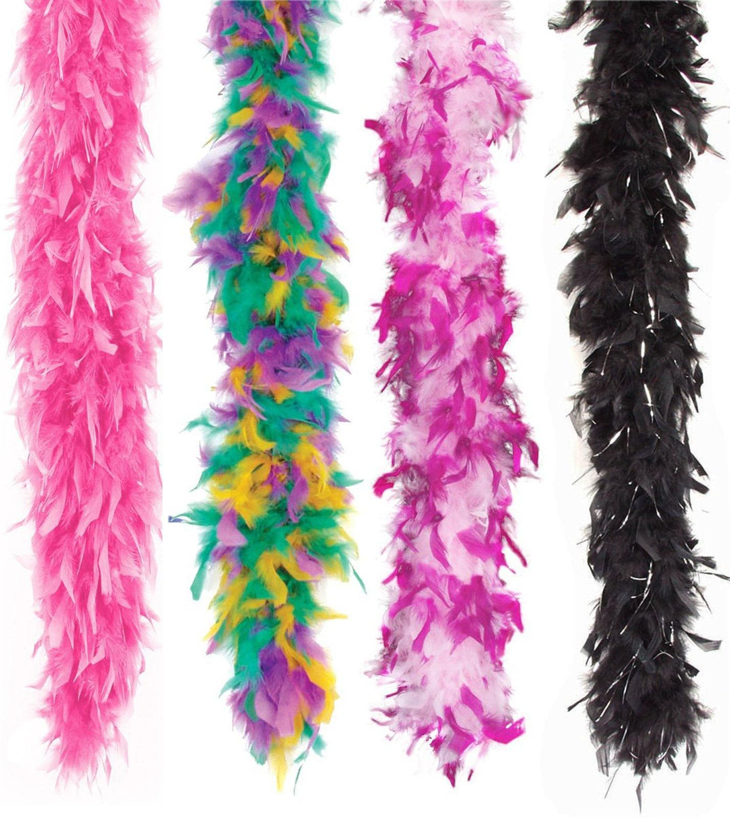 Very Berry Feather Halloween Cosplay Costume Accessory ZUCKER 6 Flapper Ostrich Boa